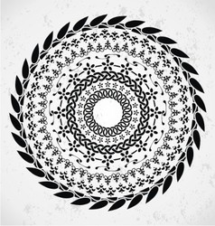 Artistic rounded ornament vector