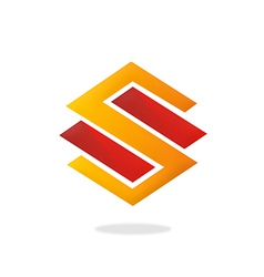 S letter logo building construction logo vector
