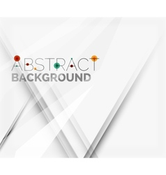 White abstract background with lines of shadows vector