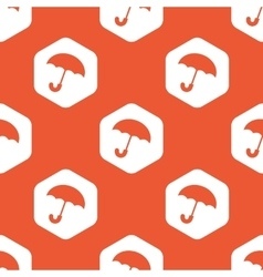 Orange hexagon umbrella pattern vector