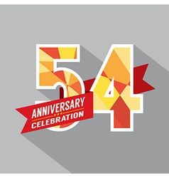54th years anniversary celebration design vector