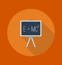 Education flat icon blackboard vector