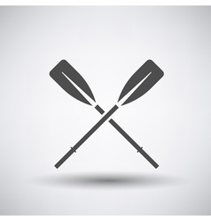 Oars icon vector