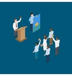 auction scene vector image