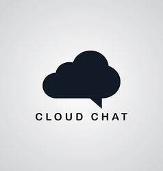 Chat cloud theme vector