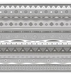 Gray curls seamless pattern vector