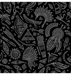 Tribal abstract native chalkboard seamless pattern vector