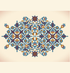 arabesque vintage elegant floral decoration print vector image