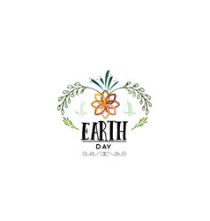 badge as part of the design - earth day sticker vector image