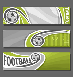 banners for football vector image vector image