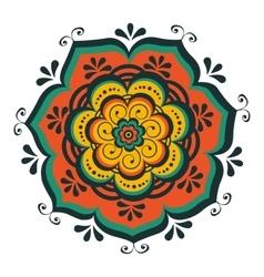 Beautiful oriental mandala vector image