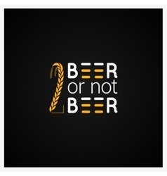 Beer Concept Logo Design Background vector image vector image