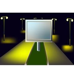 Billboard and night highway vector