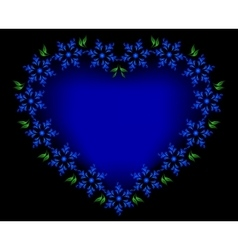 Blue heart of flowers for Valentines Day EPS10 vector image vector image