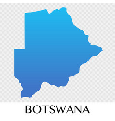 Botswana map in africa continent design vector