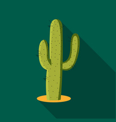 Cactus icon flate singe western icon from the vector