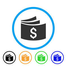 Checkbook rounded icon vector