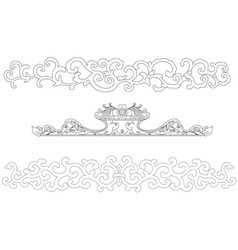 Chinese art frame vector image vector image