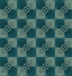 Circle-squares pattern in green and dark-green vector