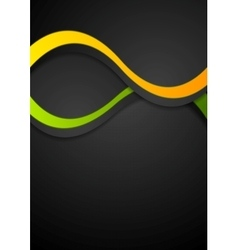 Contrast abstract wavy background vector