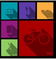 creative hipster accessories vector image vector image