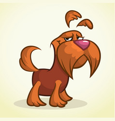 Cute cartoon scottish terrier vector