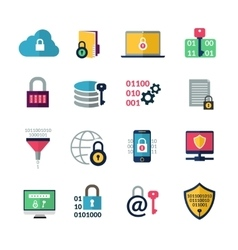 Data encryption icons vector