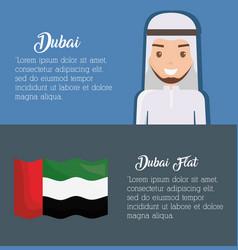 dubai infographic travel dubai concept vector image