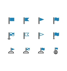 Flag duotone icons on white background vector image vector image