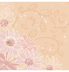 flowers pink background vector image vector image