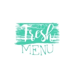 Fresh menu calligraphic cafe board vector