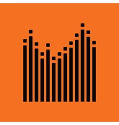 Graphic equalizer icon vector image