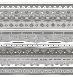 Gray curls seamless pattern vector