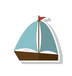 Isolated sailboat ship design vector image vector image