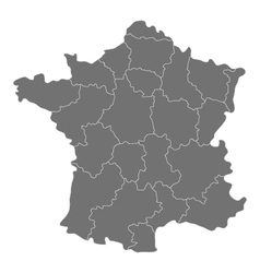 Map of france with regions vector