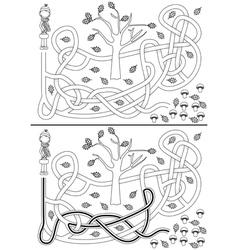 Mushrooms maze vector image