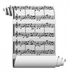 music manuscript vector image vector image