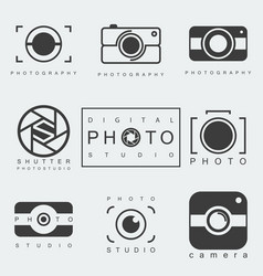 photography icon set vector image
