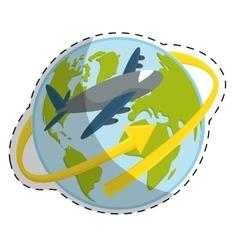 Planet earth icon image vector