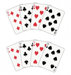 Poker eight and seven vector