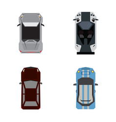 Set of top views of cars vector
