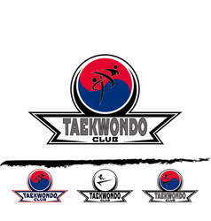 Set taekwondo logo vector