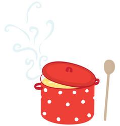 Soup pot vector