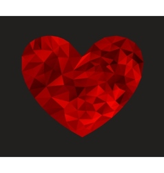 Heart from triangles vector image