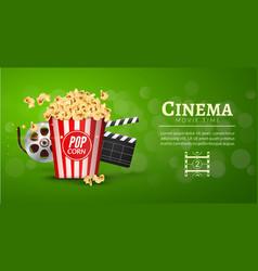 Movie film banner design template Cinema concept vector image
