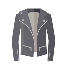 Jacket on zipper isolated on white unisex vector