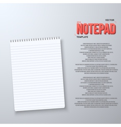 Realistic notepad office equipment vector