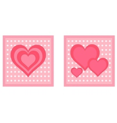 Heart cards vector image