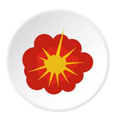 Cloudy explosion icon circle vector
