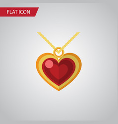 isolated pendant flat icon necklace vector image